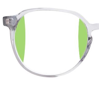 Das Bild zeigt das Design einer Bildschirmbrille und die Unterschiede zu anderen Brillengläsern